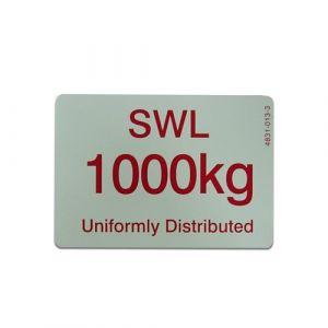 1000KG SWL sign