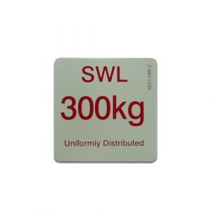 300KG SWL sign