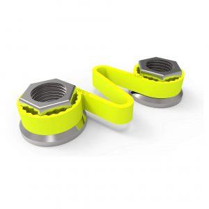 Checklink Wheel Nut Retainers - Yellow
