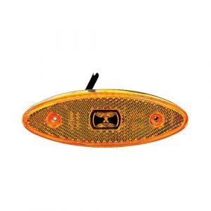 24V LED Amber Surface Oval Mounted Side Marker Lamp
